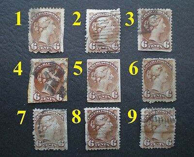 1888-97 6¢ Brown Small Queen Victoria Used (#43) ✔BUY ONLY THE STAMP YOU NEED!!