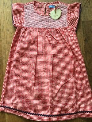 Little Bird by Jools Oliver Red White Gingham Dress 6-7 Years 🌈bnwt 🌈