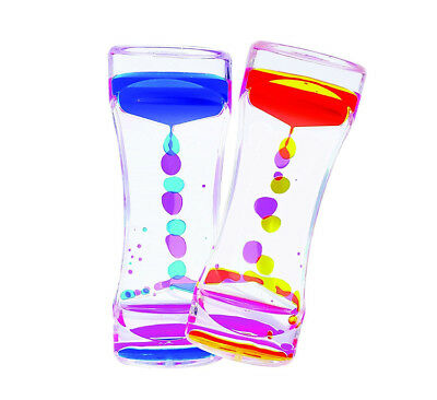 Liquid Bubbler Motion Timer Birthday Gift Colorful Hourglass Fidget Kids Toy