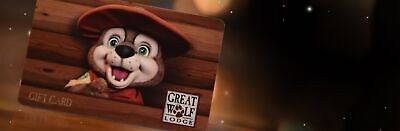 $100 Great Wolf Lodge Gift Card Certificate Please read details