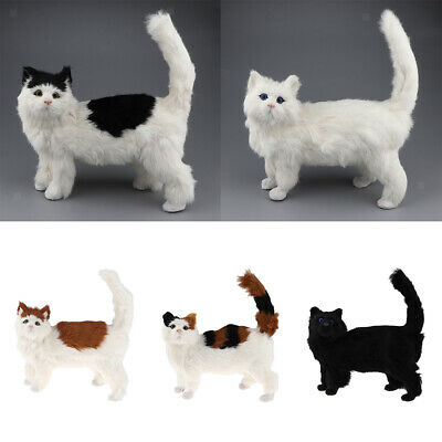 Simulation Stuffed Kitten Cat Plush Soft Animal Toy Pet Gift Home Decor