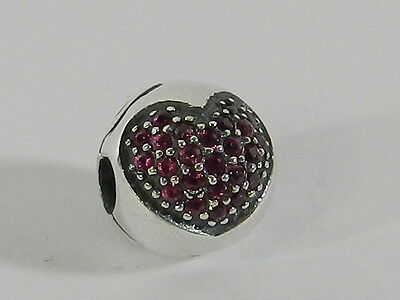 925 Sterling Silver   Pave Crystal European Charm