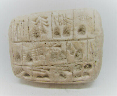 Circa 3000Bce Ancient Near Eastern Clay Tablet With Early Form Of Writing