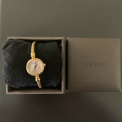 "10b86f81019 gucci wmns lovely mop 6 1 2"" watch model 27002l new battery free ship"