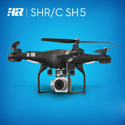 Wide Angle Lens HD Camera Quadcopter RC Drone WiFi FPV Live Helicopter Black