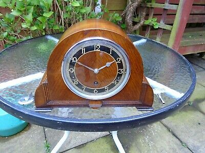 Garrard Quality Fully Restored Underslung Westminster Chimes Oak Mantle Clock