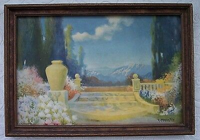 Antiques Vintage 1920s Endre Passano Oriental Lithograph Italian Artist Signed Framed 2 Various Styles Other Antique Decorative Arts