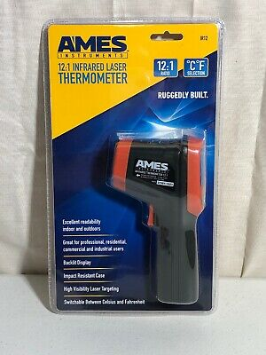 Ames Instruments IR12 12:1 Infrared Laser Thermometer 63985
