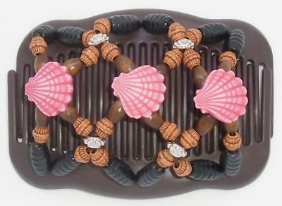 """African Butterfly Combs BIRDS MS87 US SELLER Angel Wings Hair Clips 4x3.5/"""""""