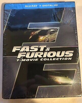 Fast & Furious 7-Movie Collection (Blu-Ray + Digital HD) BRAND NEW SEALED