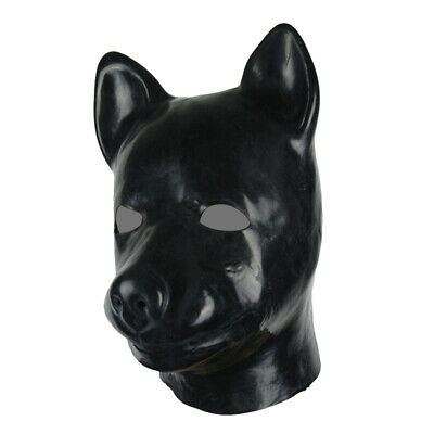 3D mould fetish unisex latex dog mask hood rubber fetish aninal mask