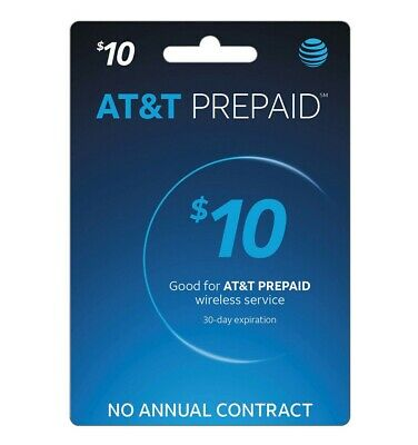 AT&T Prepaid $10 Refill Top-Up Card - Super Fast (Email Delivery) 24/7 Available