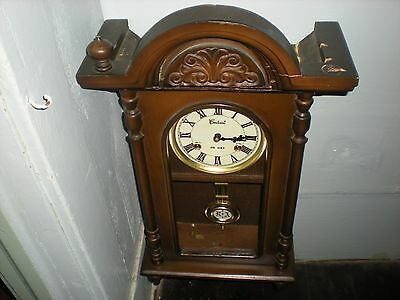 Vintage Centurion 35 Day Wind-Up Chiming Wall Clock With Key
