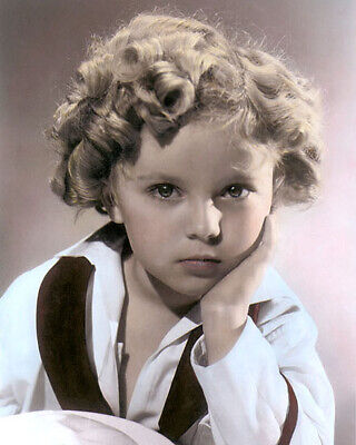 """SHIRLEY TEMPLE CAPTAIN JANUARY 1936 ACTRESS 8x10"""" HAND COLOR TINTED PHOTOGRAPH"""
