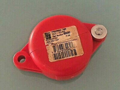 "Brady 65560 Gate Valve Lockout Tagout 1"" - 2.5"" RED Safety Regulatory Tag PP"