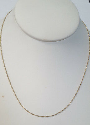 14KT  GOLD EP 30 INCH 2MM TWISTED NUGGET DESIGNER CHAIN NECKLACE