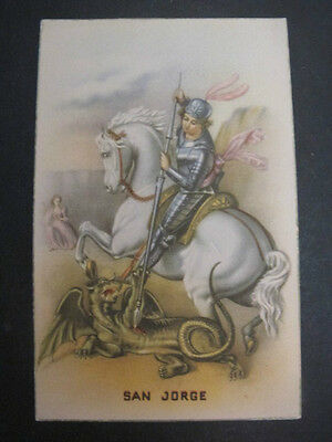 Postal religiosa antigua SAN JORGE post card holy card SAINT GEORGE