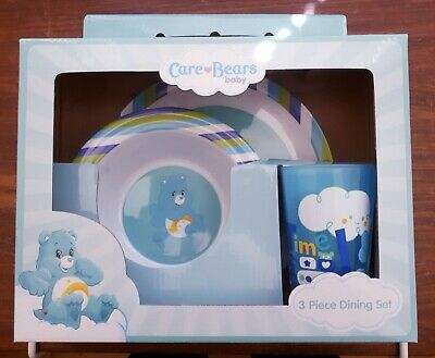 Toddler / Baby Feeding Set CARE BEARS 3 Pce Set, Plate, Bowl & tumbler BPA Free
