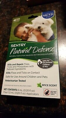 Sentry Natural Defense Flea Tick mosquito remedy dog under 15 lbs 4 applications