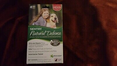 Sentry Natural Defense Flea Tick mosquito remedy dog over 40 lbs 4 applications