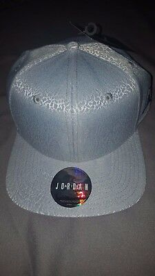 c3c2846b5ab6 Nike Air Jordan Retro 3 True Og New Snapback Hat Grey Blue Cap 802029 024