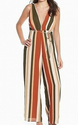 Women's Clothing Women Leith Colorful Striped Jumpsuit Size M New $75