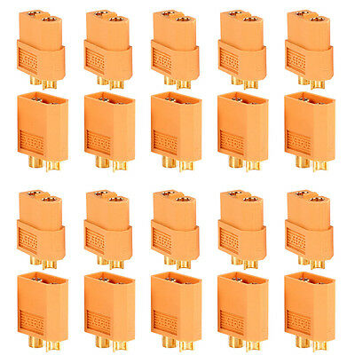 2/20/40pcs XT60 Male & Female Bullet Connectors Plugs for RC Lipo Battery FF