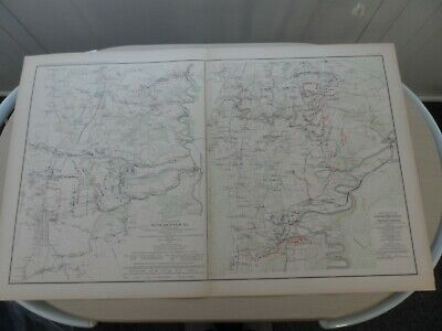 24x36 Vintage Reproduction Civil War Map Battle Fields Of Fisher/'s Hill 1864