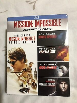 MISSION : IMPOSSIBLE COFFRET 5 FILMS blu-ray neuf
