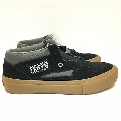 7083e354fb0484 Vans Half Cab Pro Black Pewter Gum UltraCush Suede Skate Shoes Men s Size 7