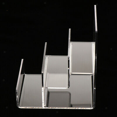 Acrylic Riser Display Shelf Rack Display Stand for Figures and Glasses