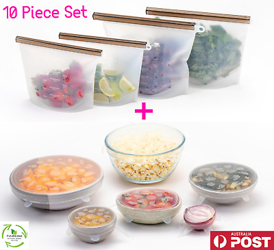 Quality Reusable Food Storage Preservation Food Bags Silicone Bowl Stretch Lids