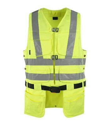 Mascot Yorkton HIGH VIS tool vest size XXL & measured with HOLSTER pockets NEW