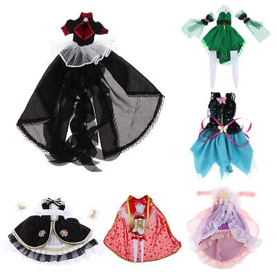 12inch Fashion Doll Outfits BJD Doll Dress Lolita Outfits Cosplay for BBgirl