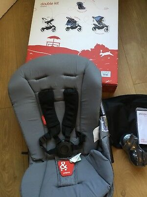 Brand New Phil and Teds Dash DK-V5-7 Double Kit Front & Back Colour Grey Marl