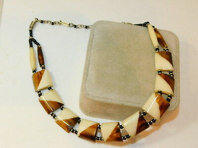 Faux OS Perle Tribal Ethnique Style de Collier Plastique Perle Collier 9e 88