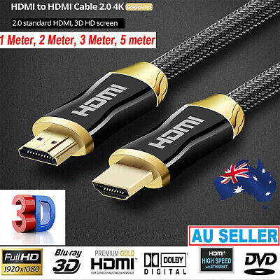 High Speed transfer  V2.0 3D 4K Ultra HD Gold Plated HDMI Cable 1M-10M Cables A
