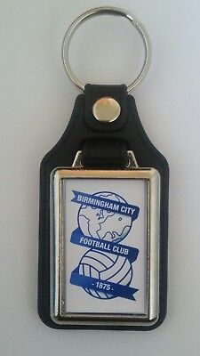 Birmingham City New  quality  leather  fob Keyring.  Ideal gift
