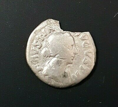 #c484# Roman silver denarius coin of Faustina II from 161-175 AD