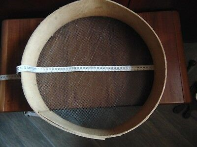 Antique Primimtive Wooden Sieve Sifter Utensil 1900s