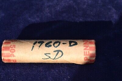 1960 D Small Date Lincoln Cent Roll- Uncirculated Gem Red Coins