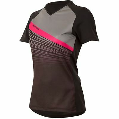 PEARL iZUMi Women's, Launch Jersey, Black / Smoked Pearl Fracture, Size L