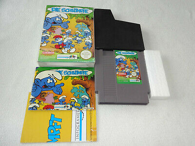 The Smurfs Pal Nintendo NES Game with box and manual