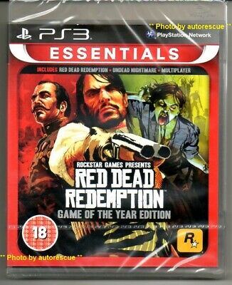 RED DEAD REDEMPTION GAME of the YEAR Edition  'New & Sealed'   *PS3*