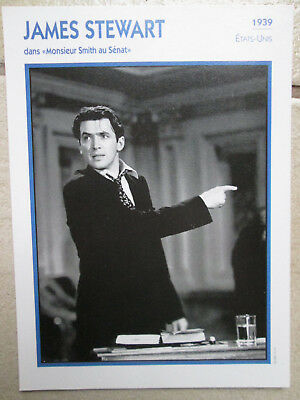 FICHE film PHOTO JAMES STEWART 1939 MONSIEUR  SMITH AU SENAT CAPRA  CINEMA