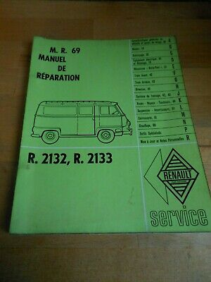 Ancien Manuel Reparation Mr69 Renault Estafette R.2132 2133 1962 Workshop Manual