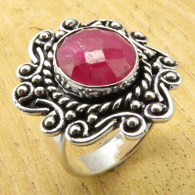 BROTHER'S Ring Size 8 Simulated Ruby TIBETAN Silver Plated Jewelry ONLINE STORE