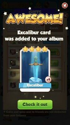 Excalibur :- Coin Master( Fastest Delivery ) Card Seller