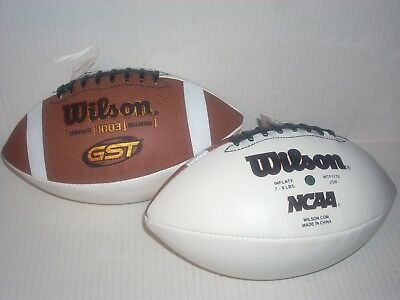 Wilson GST 1003 Composite Collegiate NCAA Autograph Football Brown White New
