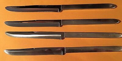 Vintage Robeson Frozen Heat Knives by Shur Edge Silver Plated Service For 4